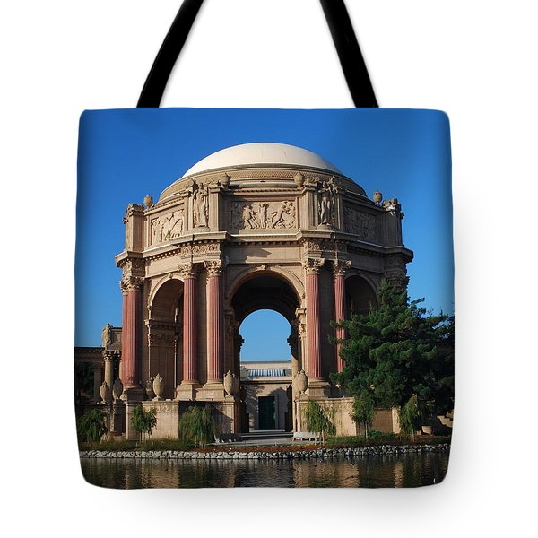 Palace Of Fine Arts Color Tote Bag