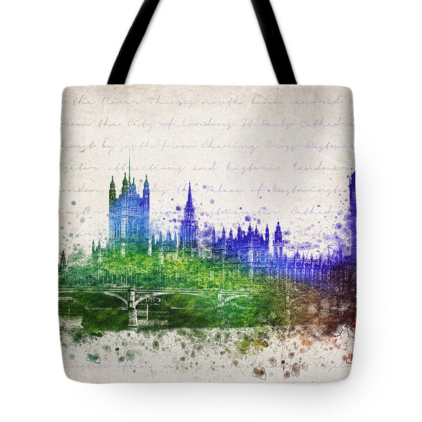 Palace Of Westminster Tote Bag by Aged Pixel