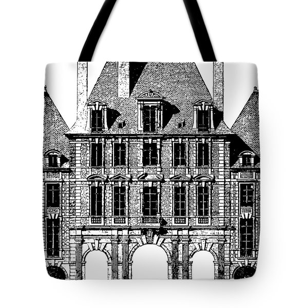Tote Bag featuring the photograph Place Royal At Paris by Suzanne Powers