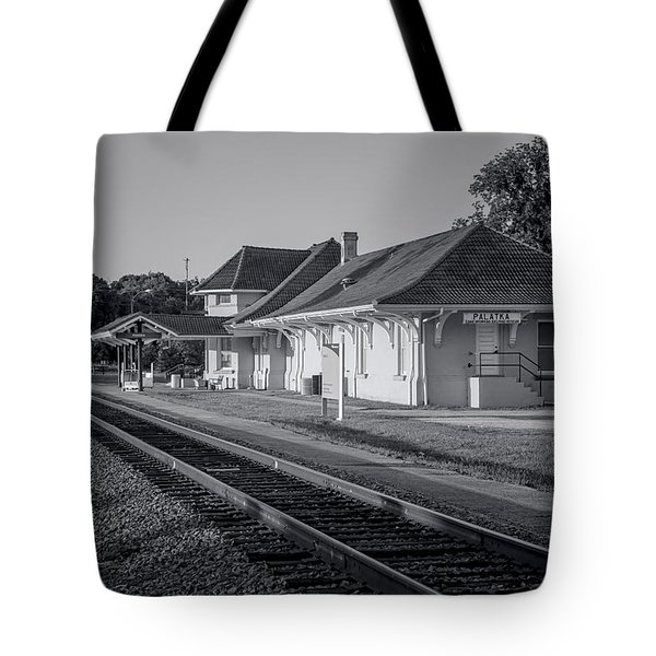 Palatka Train Station Tote Bag