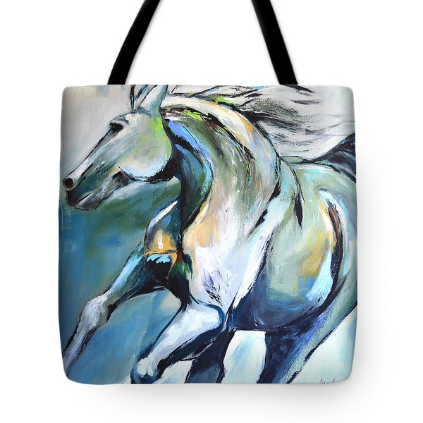 Pale Horse Tote Bag by Cher Devereaux
