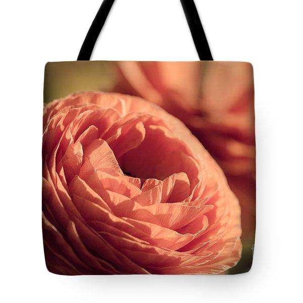 Pale Pink Petals Tote Bag