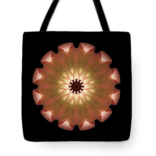 Pale Pink Tulip Flower Mandala Tote Bag by David J Bookbinder