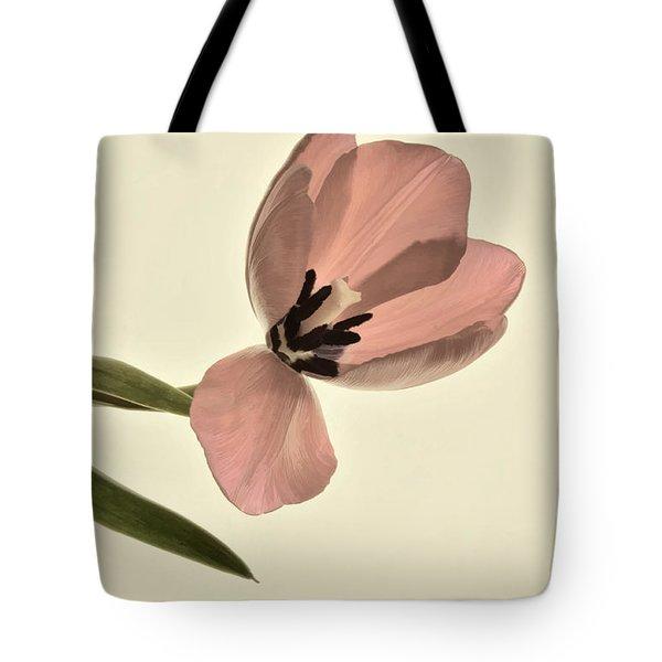 Pale Pink Tulip Tote Bag