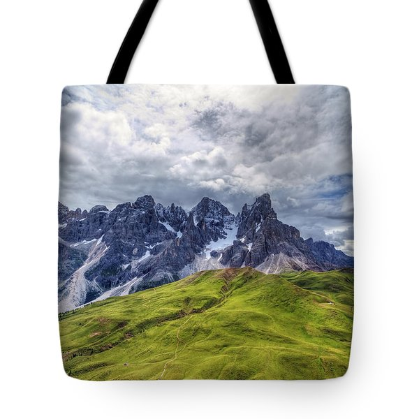 Tote Bag featuring the photograph Pale San Martino - Hdr by Antonio Scarpi