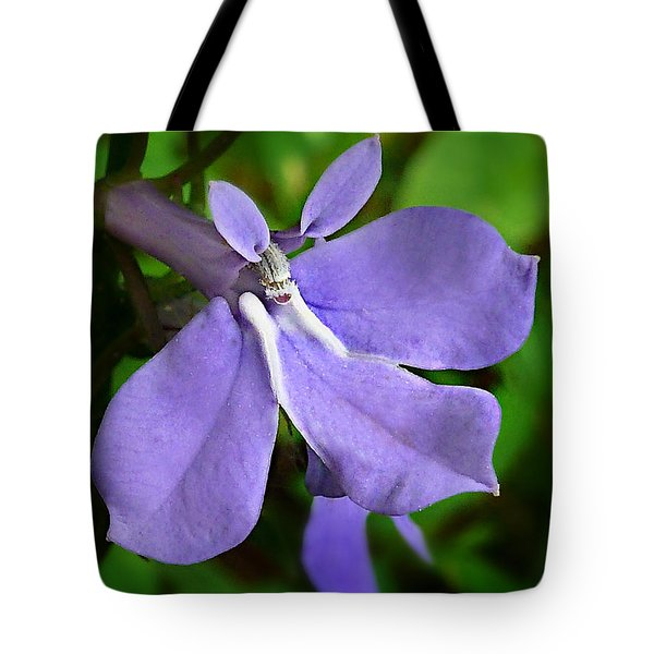 Tote Bag featuring the photograph Wild Palespike Lobelia by William Tanneberger