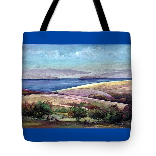 Tote Bag featuring the painting Palestine View by Mikhail Savchenko