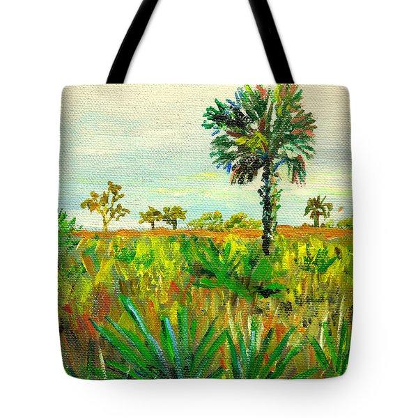 Palm And Palmetto Tote Bag
