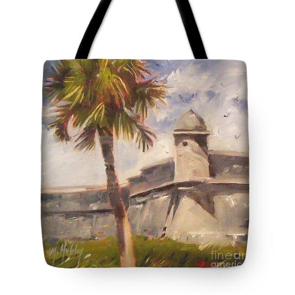 Palm At St. Augustine Castillo Fort Tote Bag
