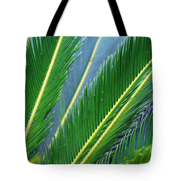 Palm Cycas Fronds Tote Bag