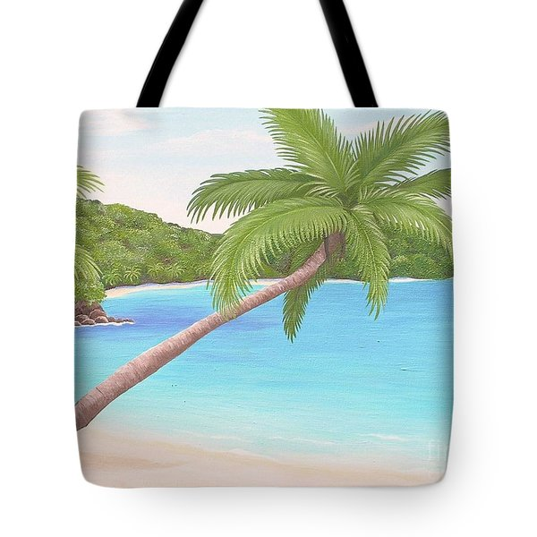 Palm In Paradise Tote Bag