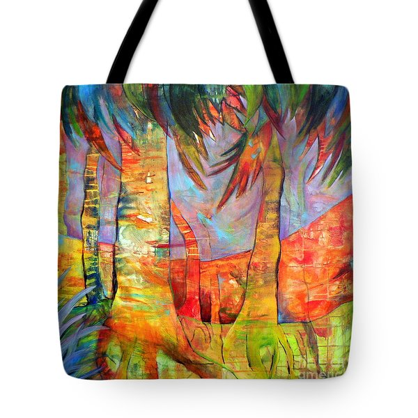 Palm Jungle Tote Bag by Elizabeth Fontaine-Barr