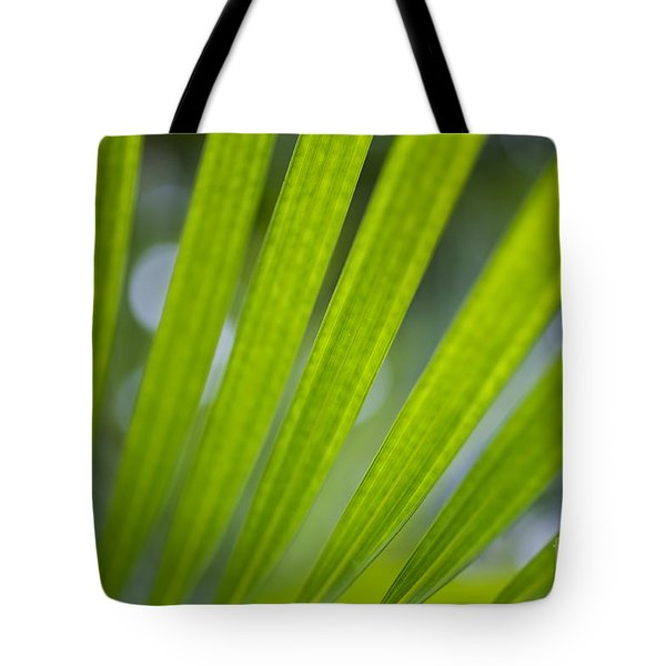 Tote Bag featuring the photograph Palm Leaf Detail by Charmian Vistaunet