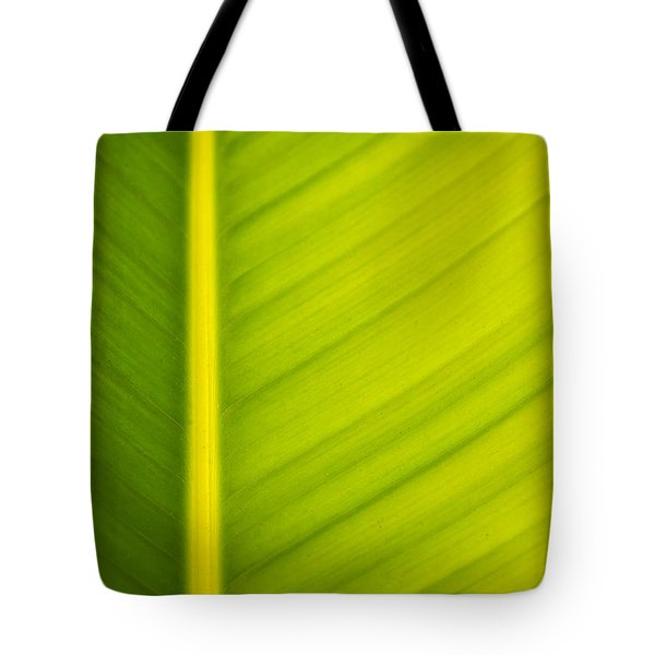 Palm Leaf Macro Abstract Tote Bag by Adam Romanowicz
