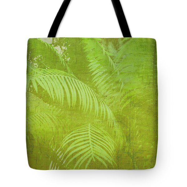 Tote Bag featuring the photograph Palm Leaves Botanical Abstract by Marianne Campolongo