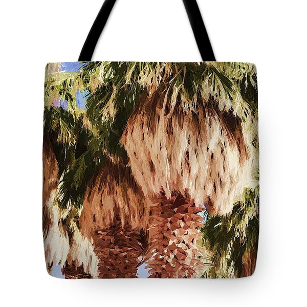 Tote Bag featuring the painting Palm by Muhie Kanawati