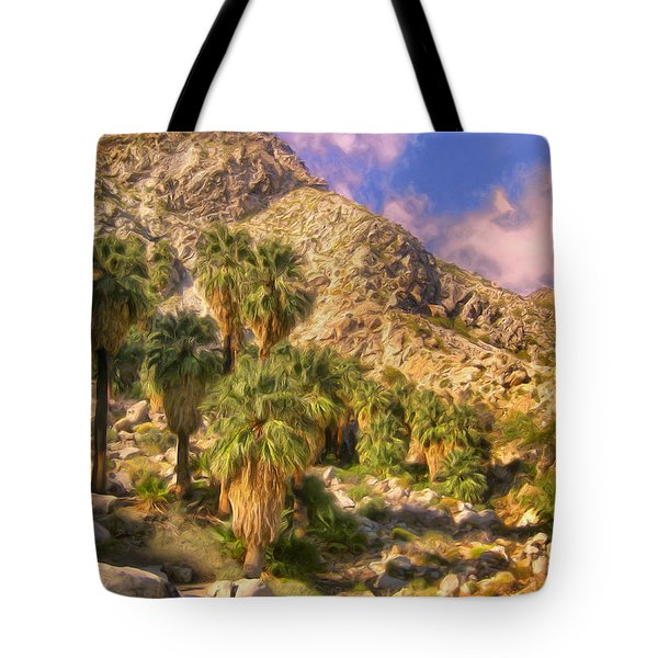Palm Oasis In Late Afternoon Tote Bag