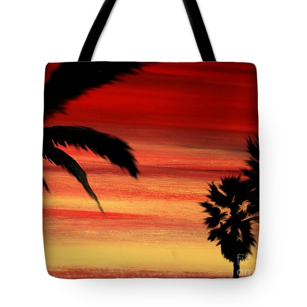 Palm Set Tote Bag by Ryan Burton