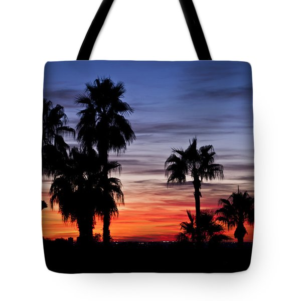 Palm Shadows Tote Bag by Deborah Klubertanz