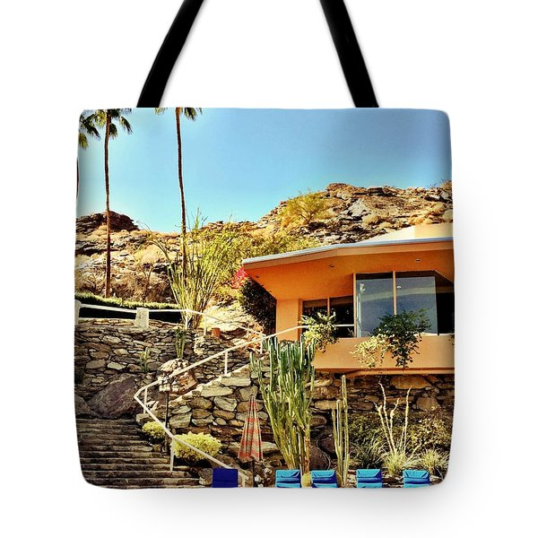 Palm Springs Pool Tote Bag by Julie Gebhardt