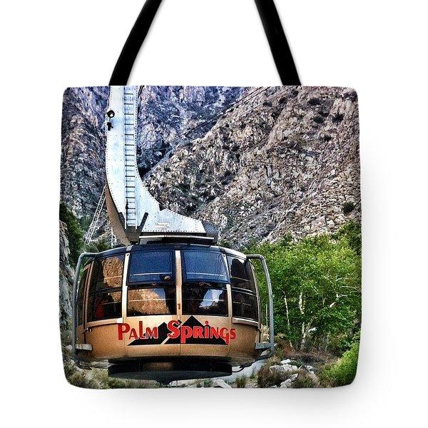 Palm Springs Tram 2 Tote Bag by Susan Garren