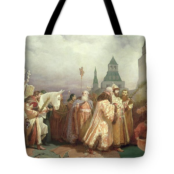 Palm Sunday Procession Under The Reign Of Tsar Alexis Romanov Tote Bag
