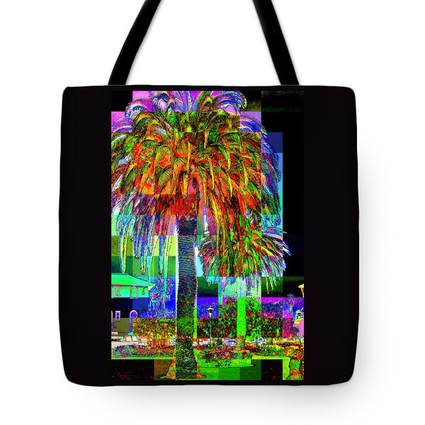 Tote Bag featuring the photograph Palm Tree by Jodie Marie Anne Richardson Traugott          aka jm-ART