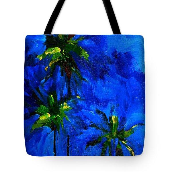 Palm Trees Abstract Tote Bag by Patricia Awapara