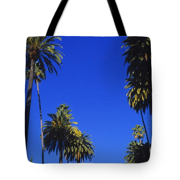 Palm Trees Along A Road, Beverly Hills Tote Bag