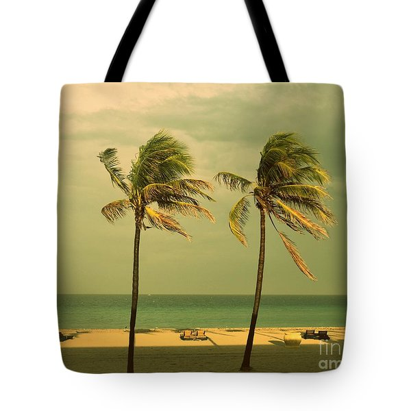 Palm Trees At Hallendale Beach Tote Bag