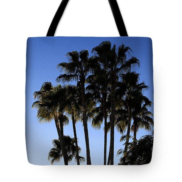 Palm Trees Tote Bag by Chris Thomas