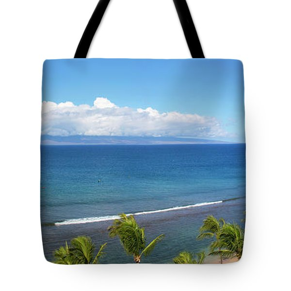 Palm Trees On The Beach, Kaanapali Tote Bag