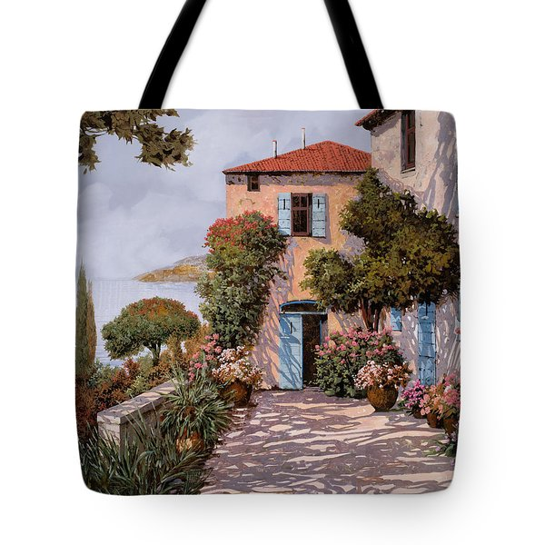 Palmette Viola Tote Bag by Guido Borelli