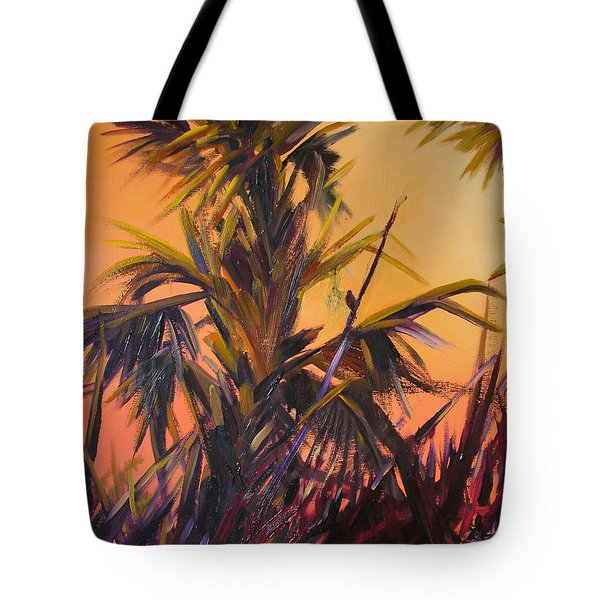 Palmettos At Dusk Tote Bag