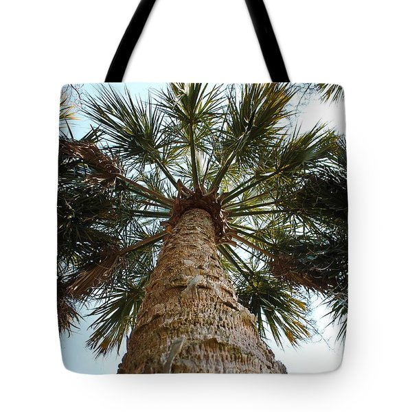 Palms Above Tote Bag