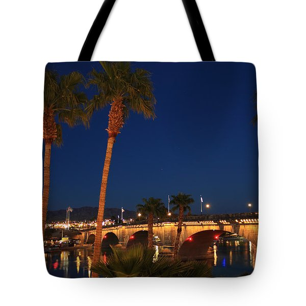 Palms At London Bridge Tote Bag