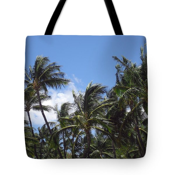 Palms In The Wind Tote Bag