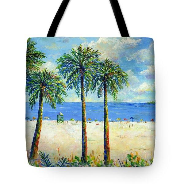 Palms On Siesta Key Beach Tote Bag