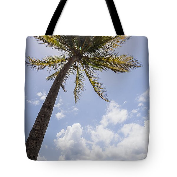 Tote Bag featuring the photograph Palms Trees Along Luquillo Beach In Puerto Rico by Bryan Mullennix