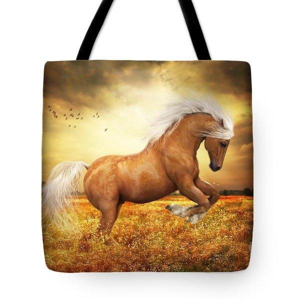 Palomino Horse Sundance  Tote Bag