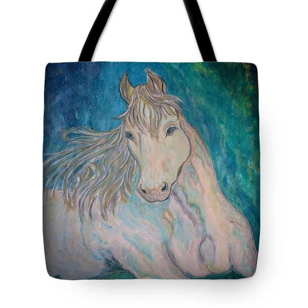 Tote Bag featuring the painting Palomino Thunder by Ella Kaye Dickey