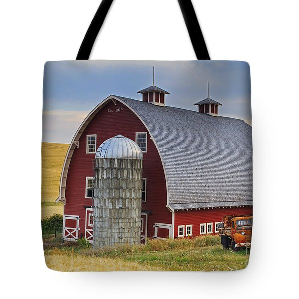 Palouse Barn - Est. 1919 Tote Bag by Mark Kiver