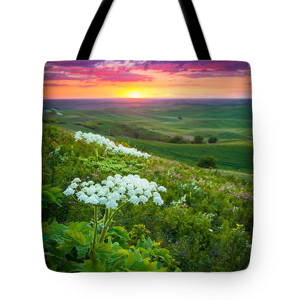 Palouse Flowers Tote Bag by Inge Johnsson