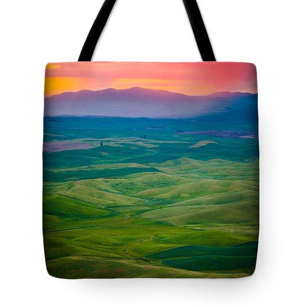 Palouse Storm At Dawn Tote Bag