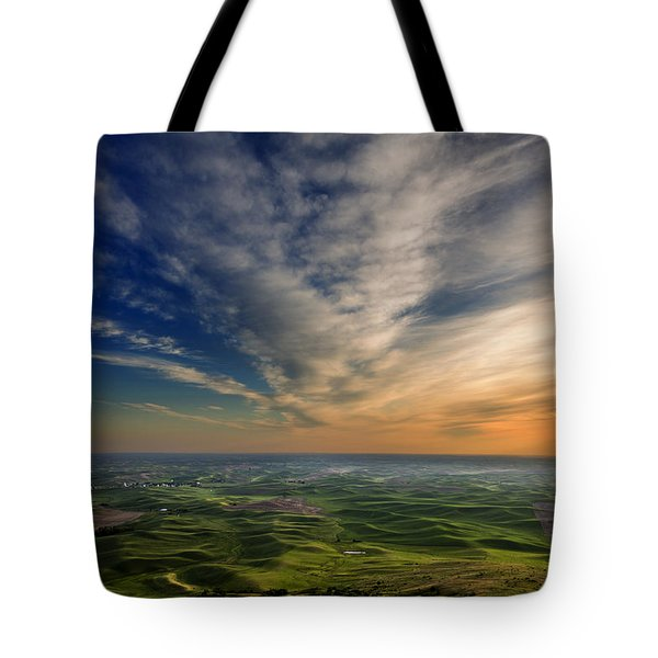 Palouse Sunset Tote Bag by Mary Jo Allen