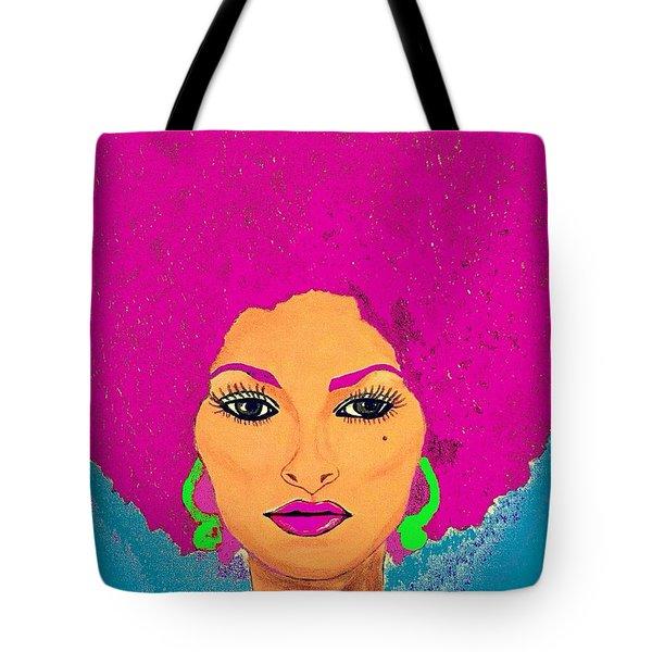 Pam Grier Bold Diva C1979 Pop Art Tote Bag