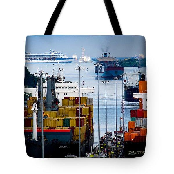 Panama Canal Express Tote Bag