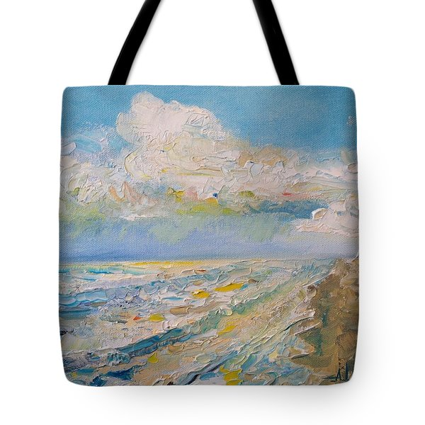 Tote Bag featuring the painting Panama City Beach by Alan Lakin