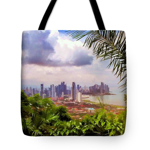Panama City From Ancon Hill Tote Bag