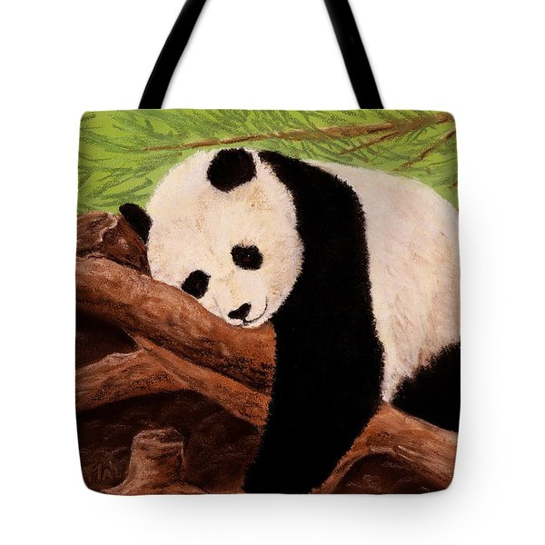 Panda Tote Bag by Anastasiya Malakhova